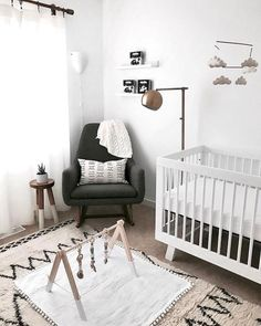 Just imagine the sweet dreams you'll have here little one. The post 23 Awesome Small Nursery Design Ideas appeared first on Kinderzimmer Dekoration. Baby Bedroom, Baby Room Decor, Nursery Room, Nursery Decor, Boho Nursery, Nursery Furniture, Bedroom Black, Playroom Decor, Boy Room