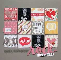 #papercrafting #scrapbook #layout idea: Rock the Beatles scrapbook layout by Lisa Dickinson for SCT Magazine