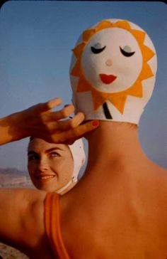 Bathing Caps with Faces crane n.d.(1950s-60s)