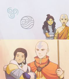 i totally love this picture of aang and katara :) Avatar Ang, Avatar Legend Of Aang, Korra Avatar, Team Avatar, Legend Of Korra, Avatar The Last Airbender Funny, The Last Avatar, Avatar Funny, Avatar Airbender