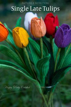 Single Late Tulips Pattern by Happy Patty Crochet