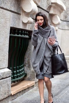 Bundled in grey #sty