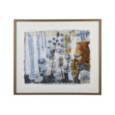 Winter Helianthus Print: limited edition prints of 350. Artist: Liz Innvar  | Crate and Barrel