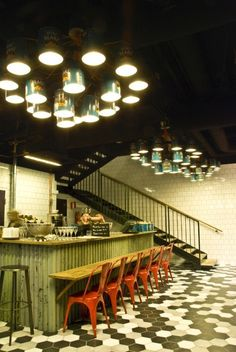 chandeliers01lr 535x800 Upcycling industrial scale for Midhill restaurant in metals lights  with #Dreamstaurant/eTundra