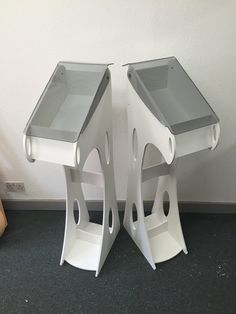 Custom brochure stands created for yacht showrooms. Brochure Stand, Magazine Stand, Kiosk, Stool, Advertising, Concept, Projects, Inspiration, Furniture