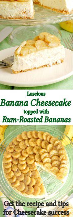 Banana Cheesecake with rum-roasted bananas. Get the recipe. (scheduled via http://www.tailwindapp.com?utm_source=pinterest&utm_medium=twpin&utm_content=post61832162&utm_campaign=scheduler_attribution)