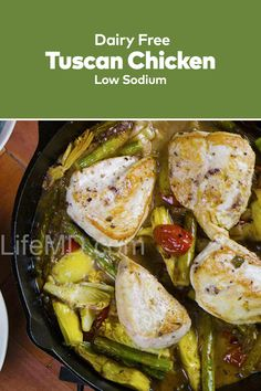 How about some delicious Tuscan Chicken, one of the best recipes with chicken? This healthy and homemade chicken recipe is simply delicious and easy to make. Tuscan Chicken, Boneless Skinless Chicken, Delicious Dinner Recipes, Family Meals, Dairy Free, Chicken Recipes, Good Food, Tasty, Homemade