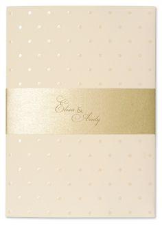 Faire-part Mariage haut de gamme raffiné - Perle Nacre Sable