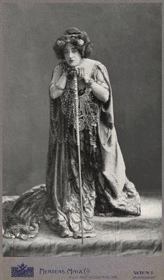 """Anna von Mildenburg als Klytämnestra """" Elektra """" Wien 1909"""