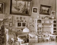 """A very clear photo of the Mauve Room of Tsarina Alexandra.  It is what we would refer to today as """"shabby chic""""."""