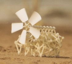 "A miniature ""Strandbeest"" by Theo Jansen :: 3D printed wind-powered walking creature April 20"