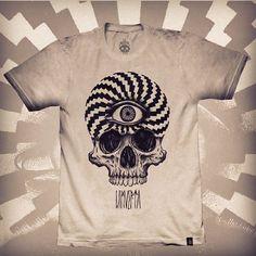 Collaboration with La Muerta. T-shirt print by Ien Levin, via Behance