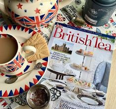 """Have you picked up a copy of our special issue """"British Tea?"""" We love how is enjoying the read in true anglophile fashion with… The Real Downton Abbey, Whittard, Afternoon Tea Recipes, Earl Grey Tea, Cuppa Tea, Her Majesty The Queen, Always Learning, Union Jack, High Tea"""