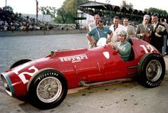Alberto Ascari On Ferrari  Special In Indianapolis In