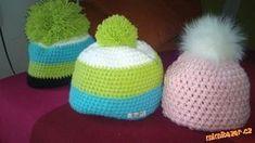 Jednoduchý zimní kulíšek Crochet Beanie Hat, Scarf Hat, Beanie Hats, Crochet Hats, Yarn Over, Diy Crochet, Knitting Yarn, Caps Hats, Crochet Projects