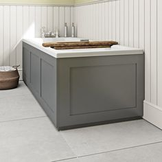 Find out more about The Bath Co. Camberley satin grey wooden bath panel pack, designed for use with x standard straight baths. Wooden Bath Panel, Wooden Bathroom, Bathroom Ideas, Bathroom Inspiration, Straight Baths, Wooden Panelling, Bathroom Paneling, Victorian Bathroom, Bathtub Remodel