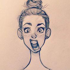 #cameronmark #art #design #illustration #drawing #doodle #sketch #girl #bun #expression
