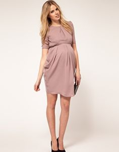 very pretty dress - not sure I could rock this color.