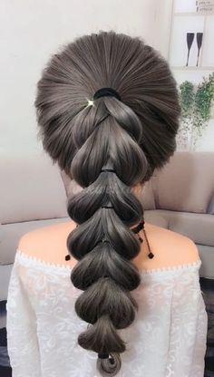50 video ideas for long hair – Tutorial Per Capelli Pretty Hairstyles, Braided Hairstyles, Wedding Hairstyles, Hairstyle Ideas, Lomg Hair, Hair Upstyles, Long Hair Video, Hair Videos, Hair Hacks