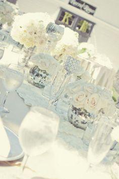 White with silver vintage feel # white wedding ... Wedding ideas for brides,