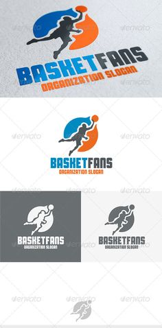 Basket Fans Logo — Vector EPS #nba #round • Available here → https://graphicriver.net/item/basket-fans-logo/3696901?ref=pxcr