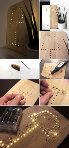 Gingered Things, DIY, LED, lamp, Dremel, decoration, LED, Lampe, Deko…