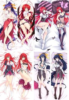 High School Dxd Dakimakura Pillow Case Cover Hug Body 105Cm Otaku Fans Gift