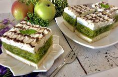 Ciasto Zielone Jabłuszko - Blog z apetytem Baking Tips, Baking Recipes, Cake Recipes, Dessert Recipes, Types Of Cakes, Polish Recipes, Homemade Cakes, Yummy Cakes, Cookie Decorating