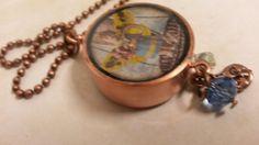 Copper pipe resin fairy necklace.  NewmansJules