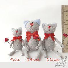 Blog. Aleshkina Julia. Handmade Toys - Mini Cats - no tutorial