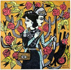O ABRAÇO DE CHANEL E LAMPIÃO, Rogerio Fernandes Art And Illustration, Illustrations, Character Illustration, Arte Popular, Arte Latina, Latino Art, Naive Art, Pretty Art, Sculpture