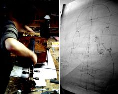 instrument sketches/cross sections = sweet art direction for any room | Violin maker by www.mr-cup.com