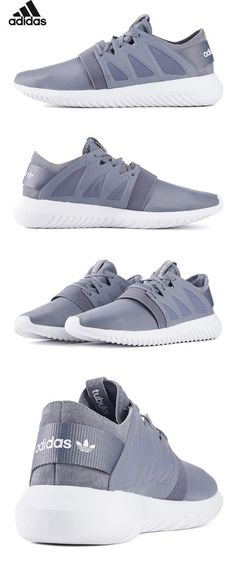Tubular Viral Womens in Grey/White by Adidas, 8