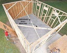 Building A Garage, Garage Shed, Garage Plans, Shed Plans, Garage Workbench, Garage Exterior, Barn Garage, Garage Art, Diy Garage