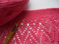 crochelinhasagulhas: Saia rosa em crochê