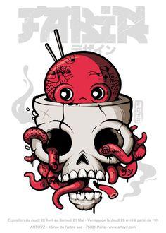 Framed skull and roses thigh tattoo - Skullspiration.com - skull designs, art, fashion and more