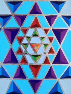 Sri Yantra, obra sobre paper, 34,5x34,5 cm.