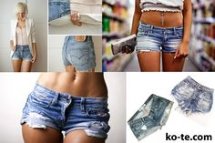 well-worn jeans shorts #diy - How to make! Ready for the farm this summer