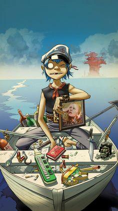 Gorillaz #art #music #boat
