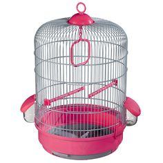 Colivie Voltrega 736 Gri Fuchsia 32x48cm Pink Bird, Bird Cages, Plastic, Ebay, Bird Cage, Birdcages