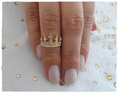anel falange coroa 5 pontas - bijoux love paris