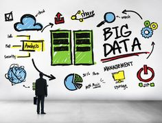 Businessman Big Data Management Looking Up Concept