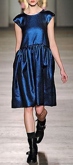 NWT! Marc by Marc Jacobs Navy Metallic 'Claudine' Dress