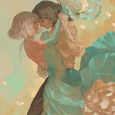 Valse, an art print by awanqi Howl's Moving Castle, Howls Moving Castle Wallpaper, Studio Ghibli Art, Studio Ghibli Movies, Studio Art, Film Animation Japonais, Howl And Sophie, Drawn Art, Anime Lindo