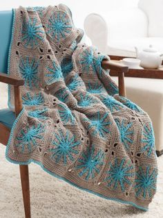 Starburst Blanket: free #crochet pattern