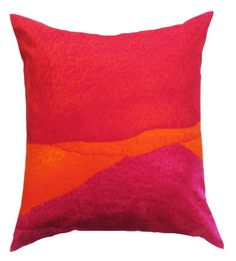 Marimekko Pillow Cover - Poukama Puuvilla Pink Orange