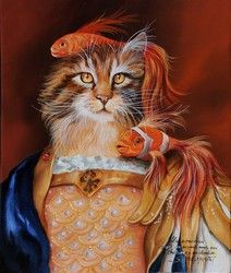 Animal society by Sylvia Karle Marquet - Beauty will save Portraits Victoriens, Image Chat, Animal Society, Fancy Cats, Cat Character, Cat People, Cat Costumes, Animal Heads, Vintage Cat