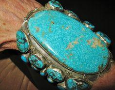 NAVAJO LYDIA BEGAY - SUMPTUOUS HUGE BLUE CUFF, 130 grams - Sterling Silver | eBay