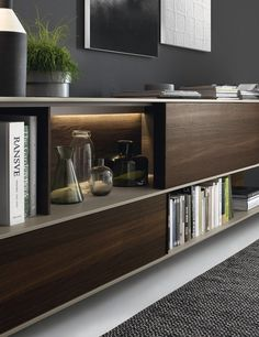 Living Room Wall Unit Blends Trendy Design With Smart Functionality