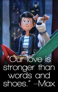 The Secret Life of Pets Quotes TOP Movie Quotes is part of Love quote Funny Pets - Get all of the Secret Life of Pets quotes here! HUGE list of amazing quotes about friendship and more! Top Movie Quotes, Popular Movie Quotes, Favorite Movie Quotes, Funny Picture Quotes, Time Quotes, Funny Pictures, Funny Animal Quotes, Dog Quotes, Funny Animals